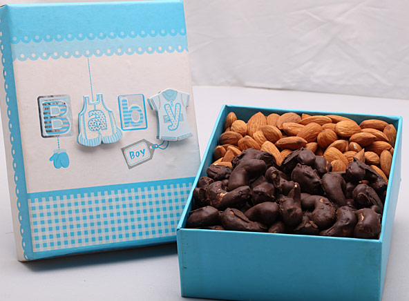 Baby Shower Dry Fruit Box - Boy - Gifts (Good News)