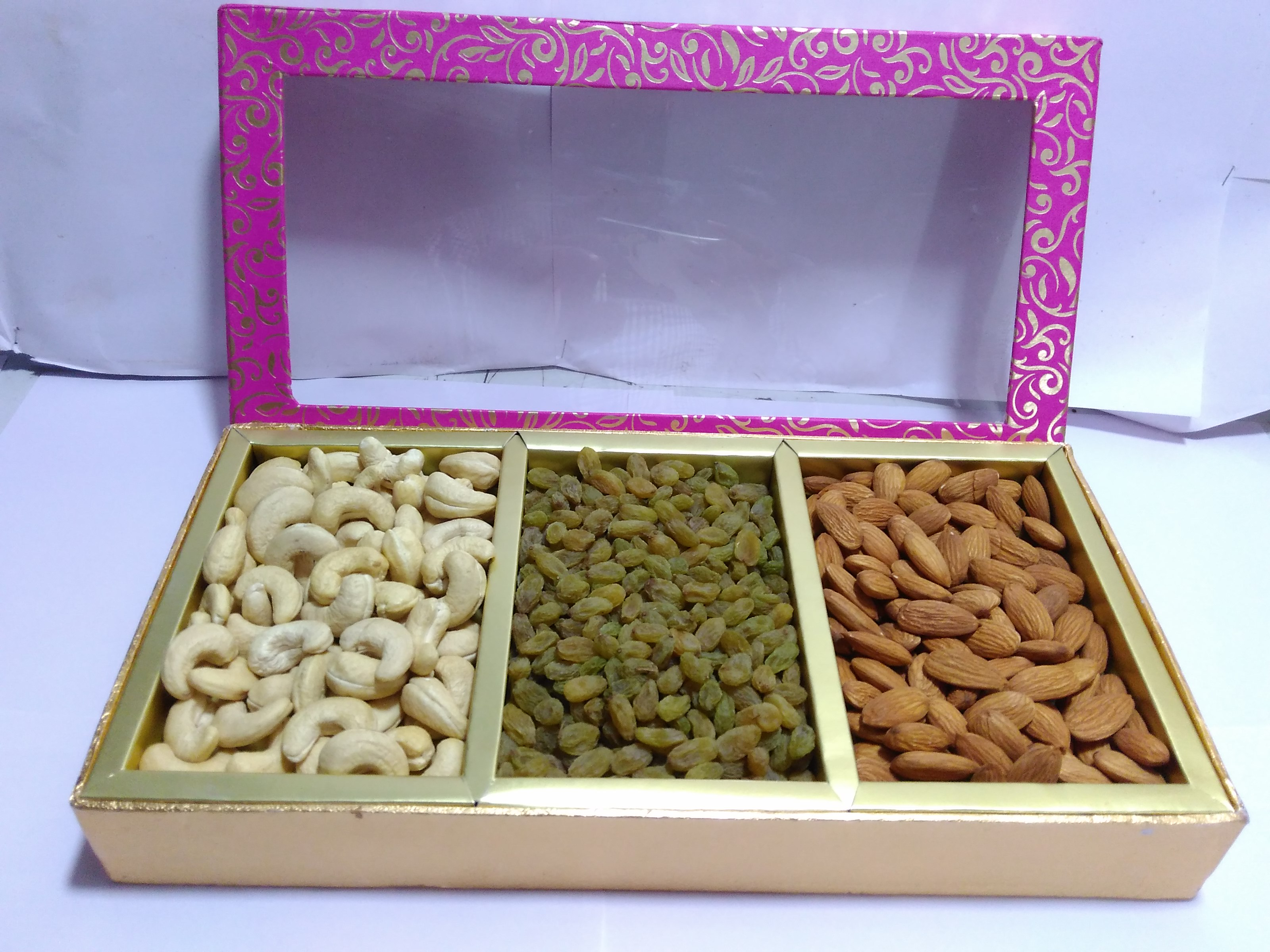 Dry Fruits Hamper 3 P - DIWALI GIFT BOX'S